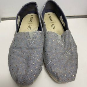 Toms Canvas Style Women's Shoes Rose Gold Dots